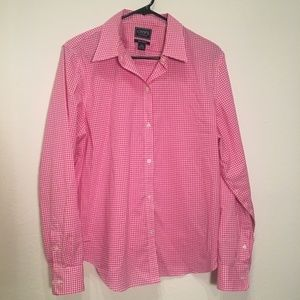 50% OFF BUNDLES - Pink and white checker blouse